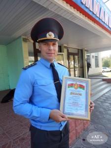 Старший инспектор уголовно-исполнительной инспекции Оршанского РОВД капитан милиции Денис Тхорев.