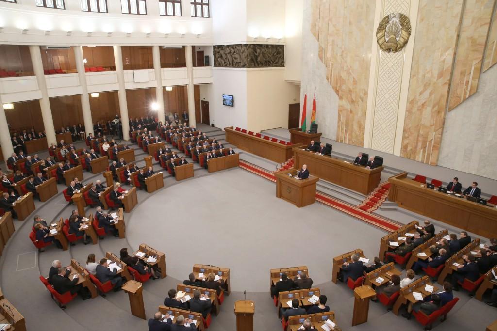 Во время выступления Президента Фото Николая Петрова, БелТА