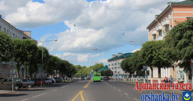 На улицах Ленина и Мира в Орше все светильники заменили на светодиодные