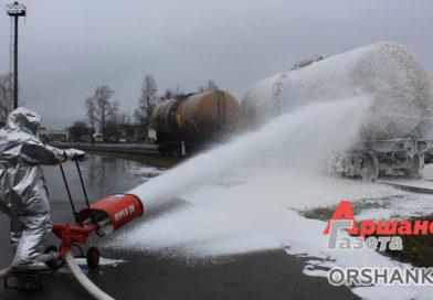 Фоторепортаж с учений: как справились с аварией и пожаром на станции Орша-Восточная