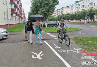В Орше появилась первая велодорожка