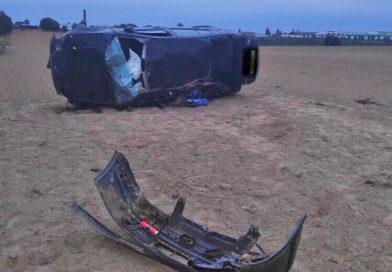 В Оршанском районе опрокинулся автомобиль. Пострадал водитель