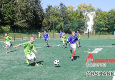 На территории средней школы № 18 в Барани построили мини-футбольную площадку с искусственным покрытием