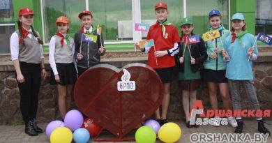 Пионеры и волонтеры гимназии № 1 предложили установить в Орше урны в виде сердца для сбора вторсырья