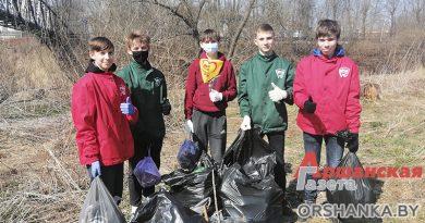 Оршанские школьники очистили берега Днепра и Оршицы