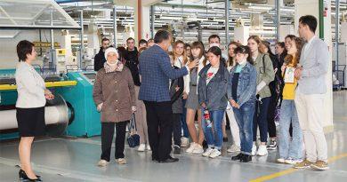 Коллектив Оршанского льнокомбината пополнился молодыми специалистами