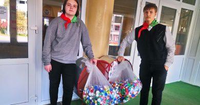 К акции по сбору пластиковых крышек присоединились оршанские школьники