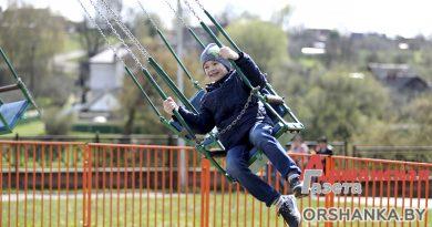 В детском парке Орши начали работать аттракционы | фото